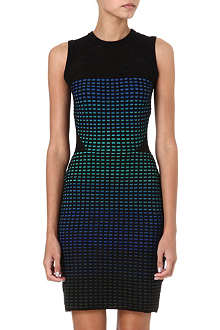 M MISSONI Mesh detail grid bodycon dress