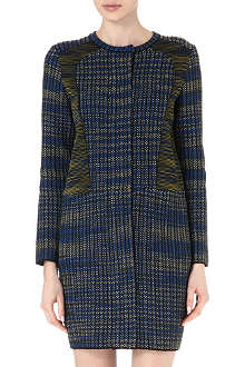 M MISSONI Collarless bouclé-tweed coat