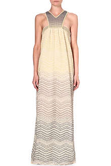 M MISSONI Ombre metallic print maxi dress
