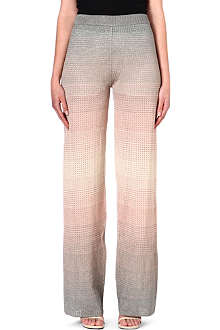 M MISSONI Wide leg knitted trousers