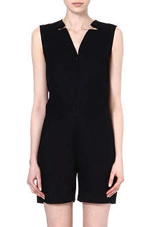 MM6 Zip-front cotton playsuit
