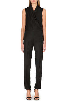 MM6 Wrap-front wool-blend jumpsuit