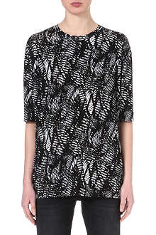 MM6 Abstract-print oversize top