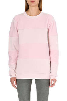 MM6 Fleece-lined striped sweatshirt