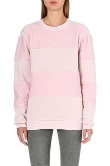 MM6 Fleece-lined striped sweatshirt