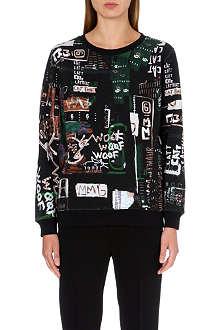 MM6 Urban art print sweatshirt
