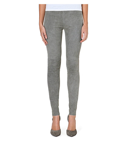MM6 Skinny leather trousers (Grey