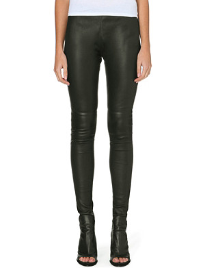 MM6 Skinny leather trousers
