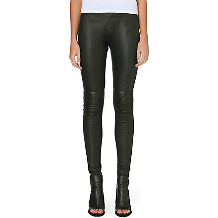 MM6 Skinny leather trousers (Black