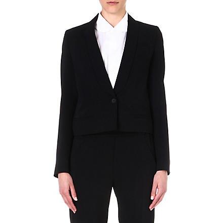 MM6 Fluid crepe blazer (Black