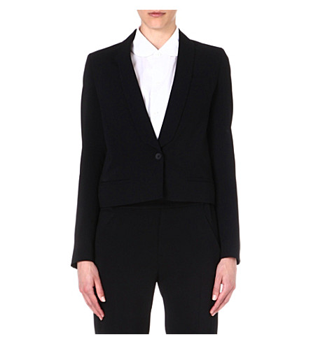 MM6 Fluid crepe blazer (Black
