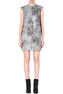 MM6 Stingray print leather dress