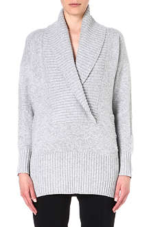 MM6 Textured wool-blend cardigan