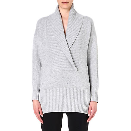 MM6 Textured wool-blend cardigan (Grey