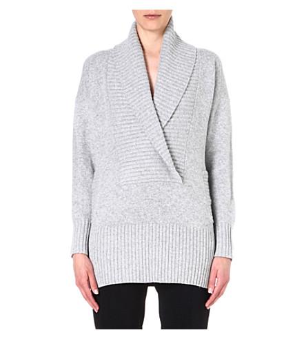 MM6 Textured wool-blend cardigan (Grey