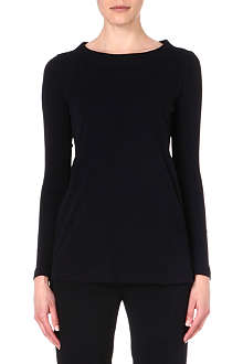 MM6 Boat-neck jersey top