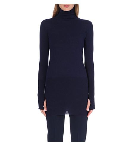 MM6 Turtleneck knitted jumper (Navy