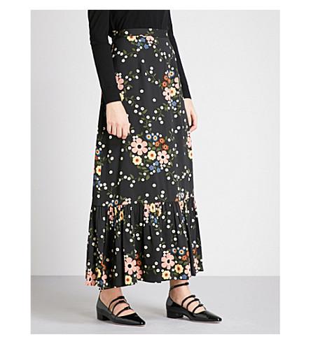 L'ORLA Leonara crepe peplum skirt (Black