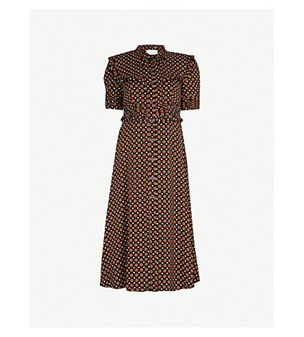L'ORLA Agnes crepe dress (Tan