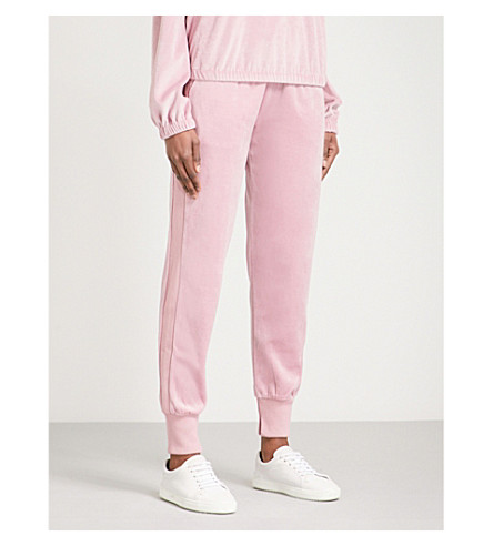 KENDALL & KYLIE Tapered velvet jogging bottoms (Orchid+orc