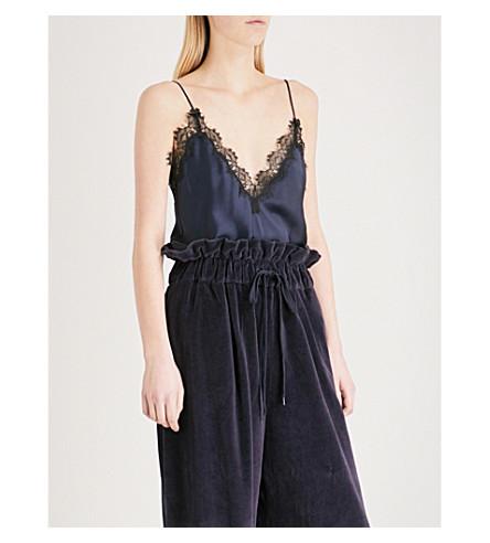 KENDALL & KYLIE Lace-trim silk-satin camisole (Nine+iron+nin