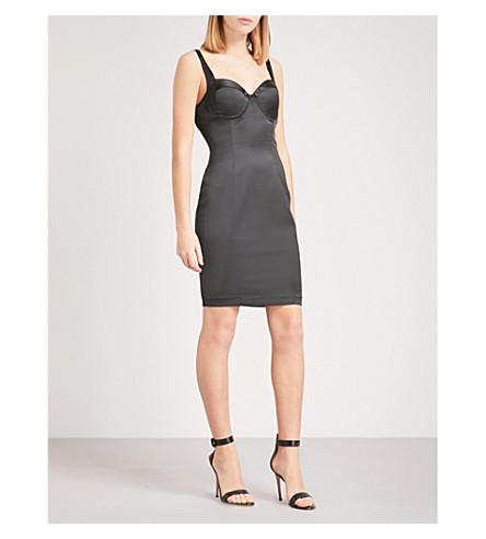 KENDALL & KYLIE Satin bustier dress (Black+blk
