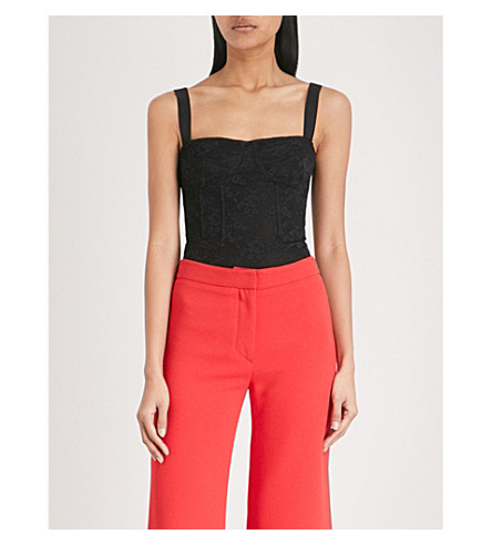 KENDALL & KYLIE Corset lace body (Black