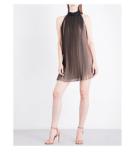 KENDALL & KYLIE Pleated crepe mini dress (Nude+beige+black