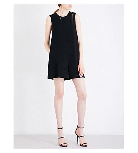 KENDALL & KYLIE Open-back crepe playsuit (Black