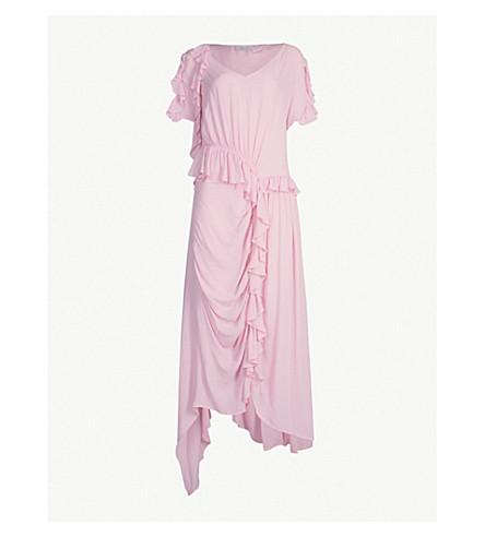 PREEN LINE Ayaka ruffled crepe midi dress (Pink
