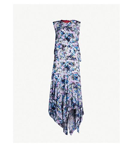 PREEN LINE Emily crepe de chine dress (Flwr blue