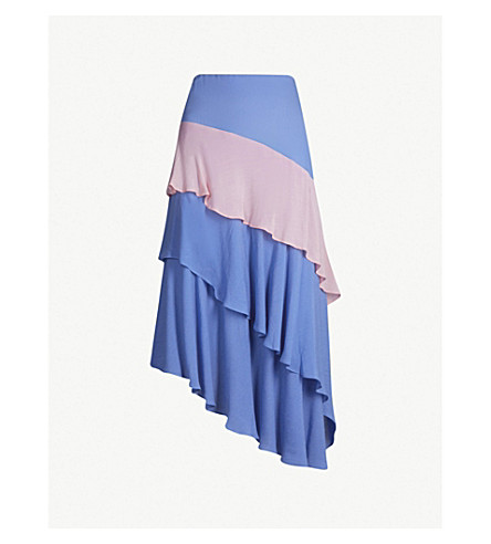 PREEN LINE Emma crepe skirt (Blue pink