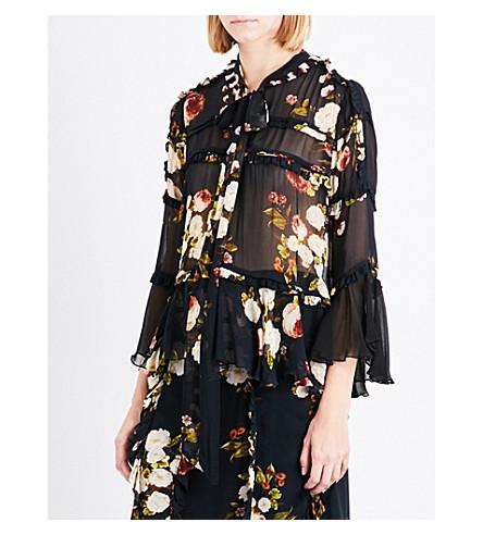 PREEN LINE Roya floral chiffon blouse (Wild+peony