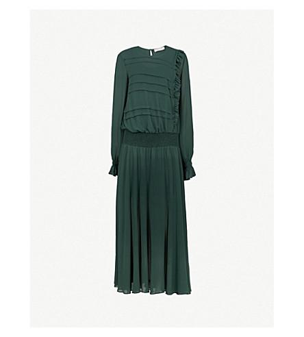 PREEN LINE Salome crepe midi dress (Bottle+green