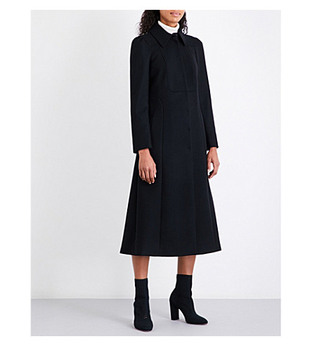 RED VALENTINO Cappotto wool-blend coat (Nero