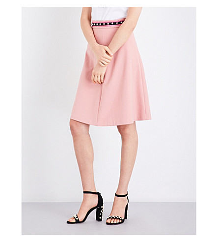 RED VALENTINO Gonna high-rise woven skirt (Magnolia