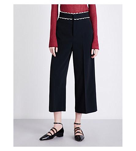 RED VALENTINO Wide-leg woven trousers (Nero