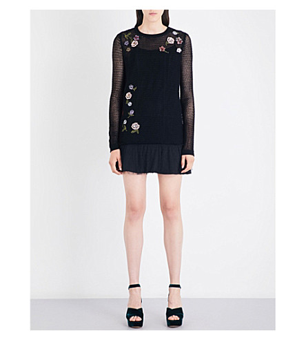 RED VALENTINO Maglia wool mini dress (Nero