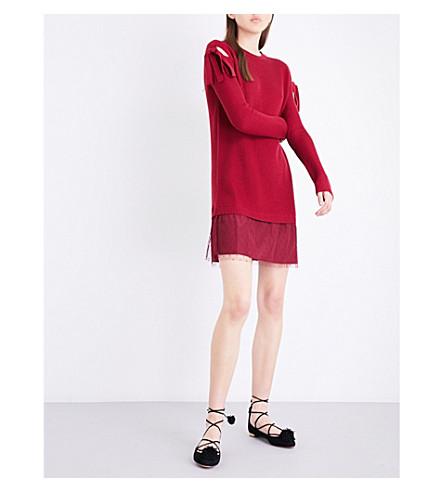 RED VALENTINO Abito Maglia wool dress (Ciliegia