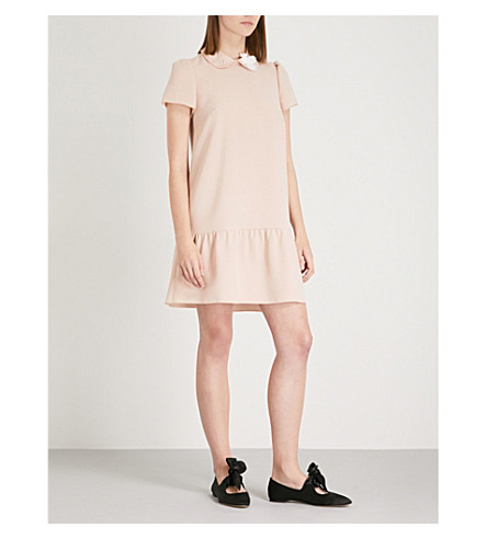 RED VALENTINO Embellished crepe mini dress (Cammeo