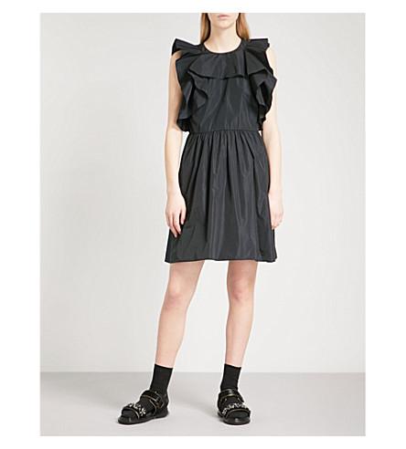 RED VALENTINO Ruffled taffeta mini dress (Nero