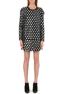 MARKUS LUPFER Smacker foil-print dress
