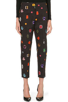 MARKUS LUPFER Jewelled tailored trousers