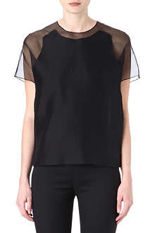 ACNE Azade sheer-back top