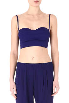 ACNE Rue cropped bustier top