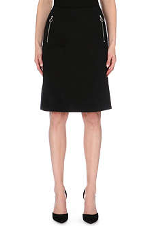 ACNE Kassia zip-pocket stretch-cotton skirt