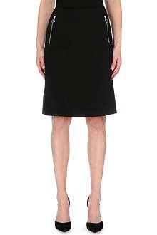 ACNE Kassia zip-pocket stretch-cotton skirt