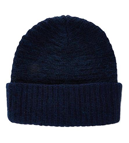 ACNE Daphnee beanie hat (Navy