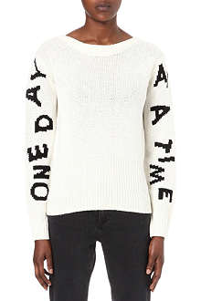 ACNE Slogan knitted jumper