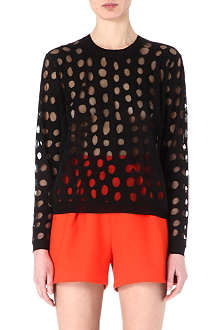ACNE Ninah sheer-spots jumper